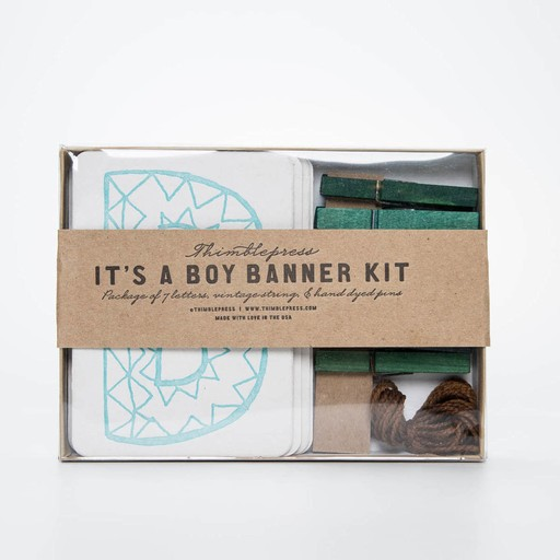 Thimblepress TBP PS - its a boy banner kit