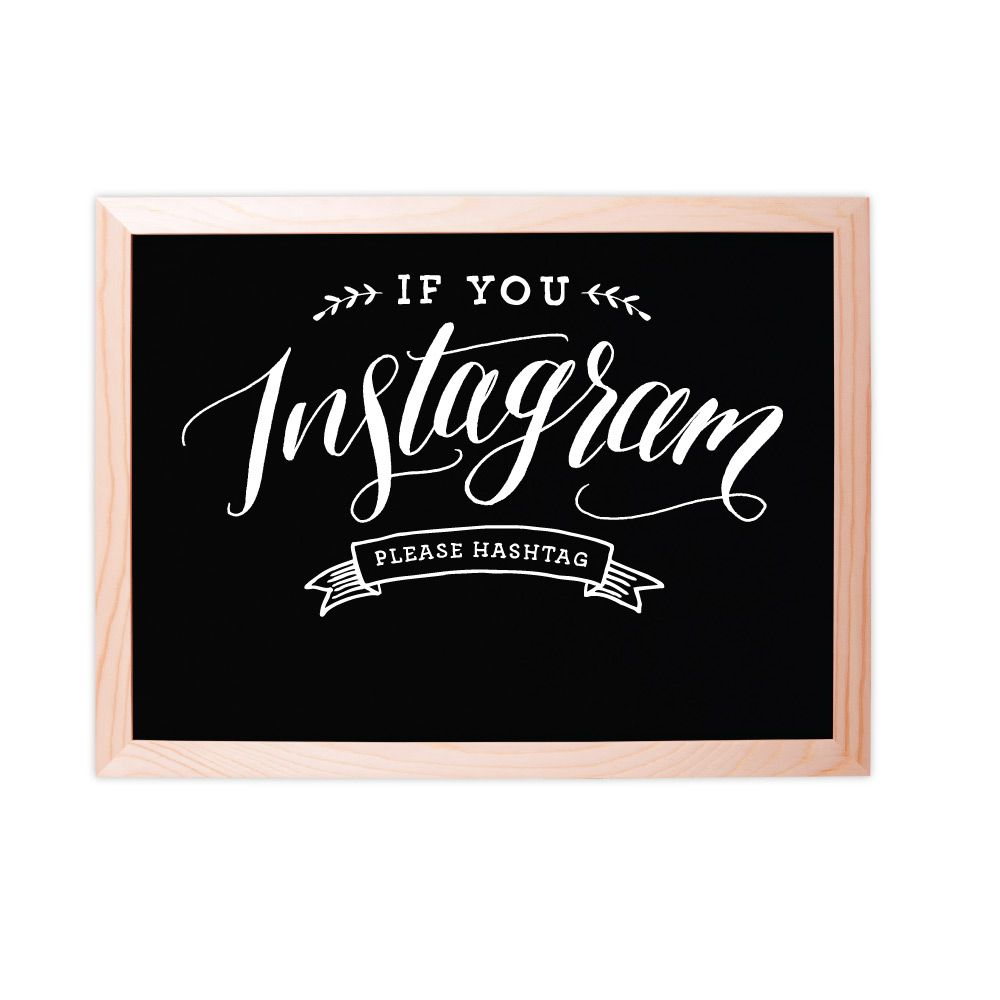 Fox and Fallow FAF PS - Instagram Chalkboard Sign