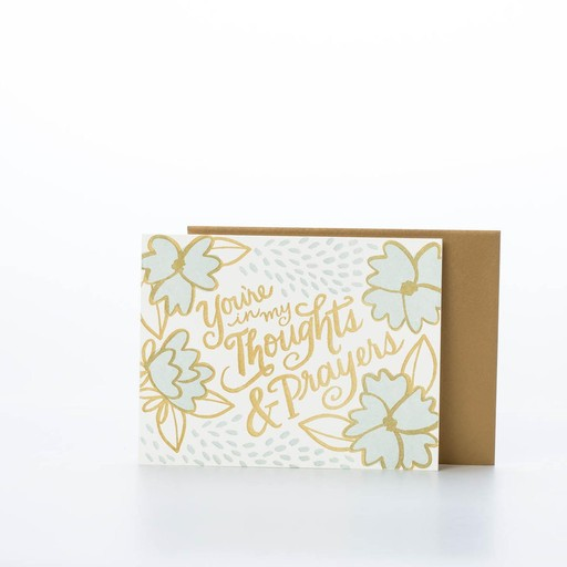 9th letterpress Thoughts & Prayers Card