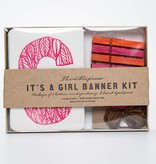 Thimblepress It's a Girl Banner Kit