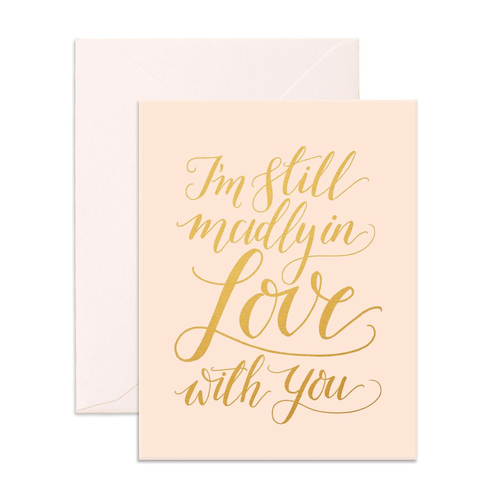 Fox and Fallow Madly in Love Card