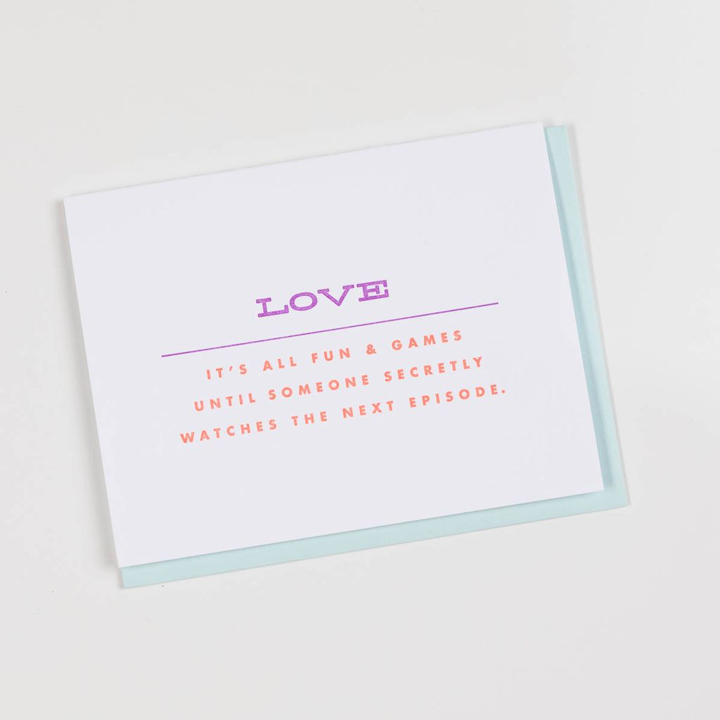 farewell paperie Fun & Games Love Card