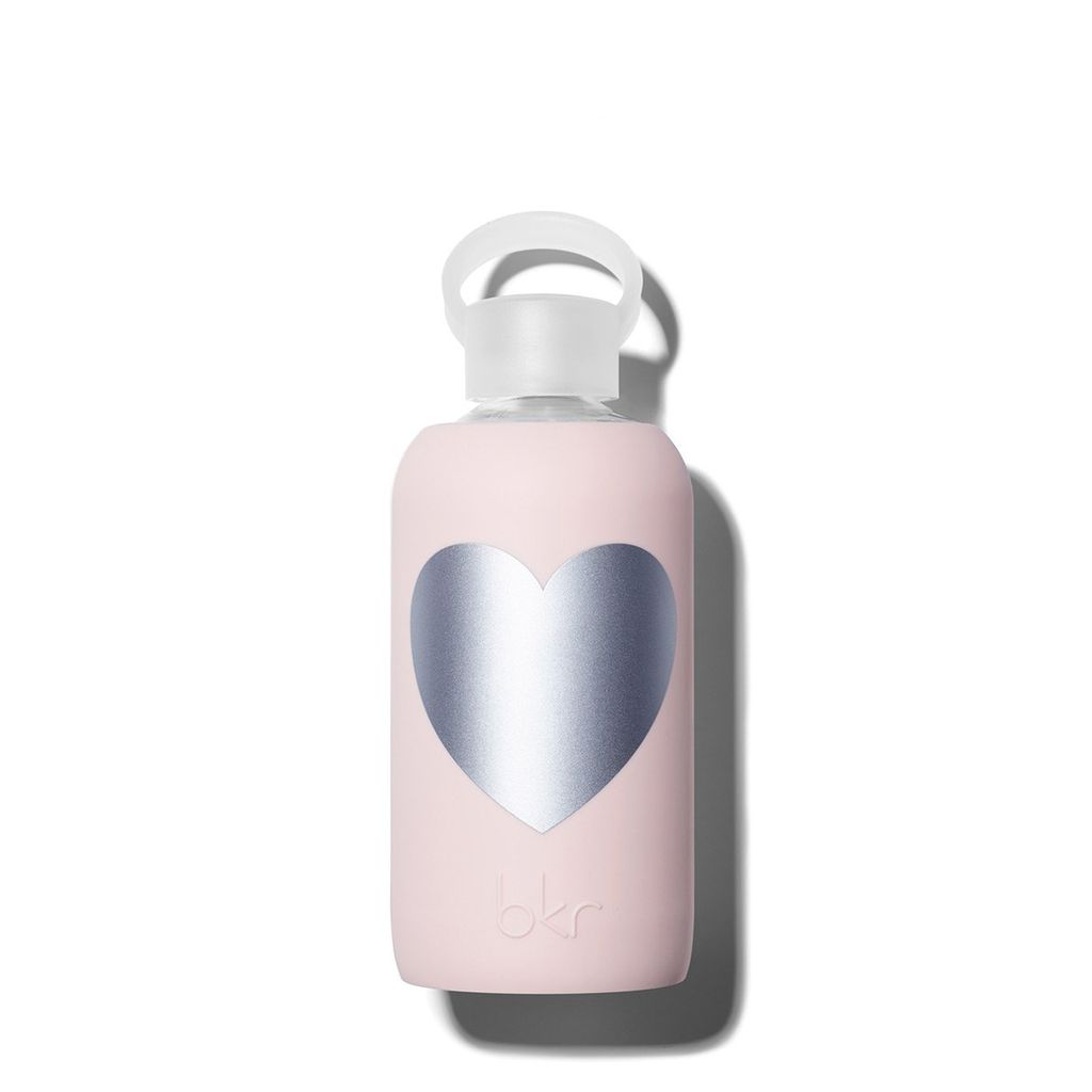 bkr bkr Silver Bougie Heart Glass Waterbottle