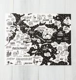 People I've Loved Black Portsmouth + Kittery Map Art Print