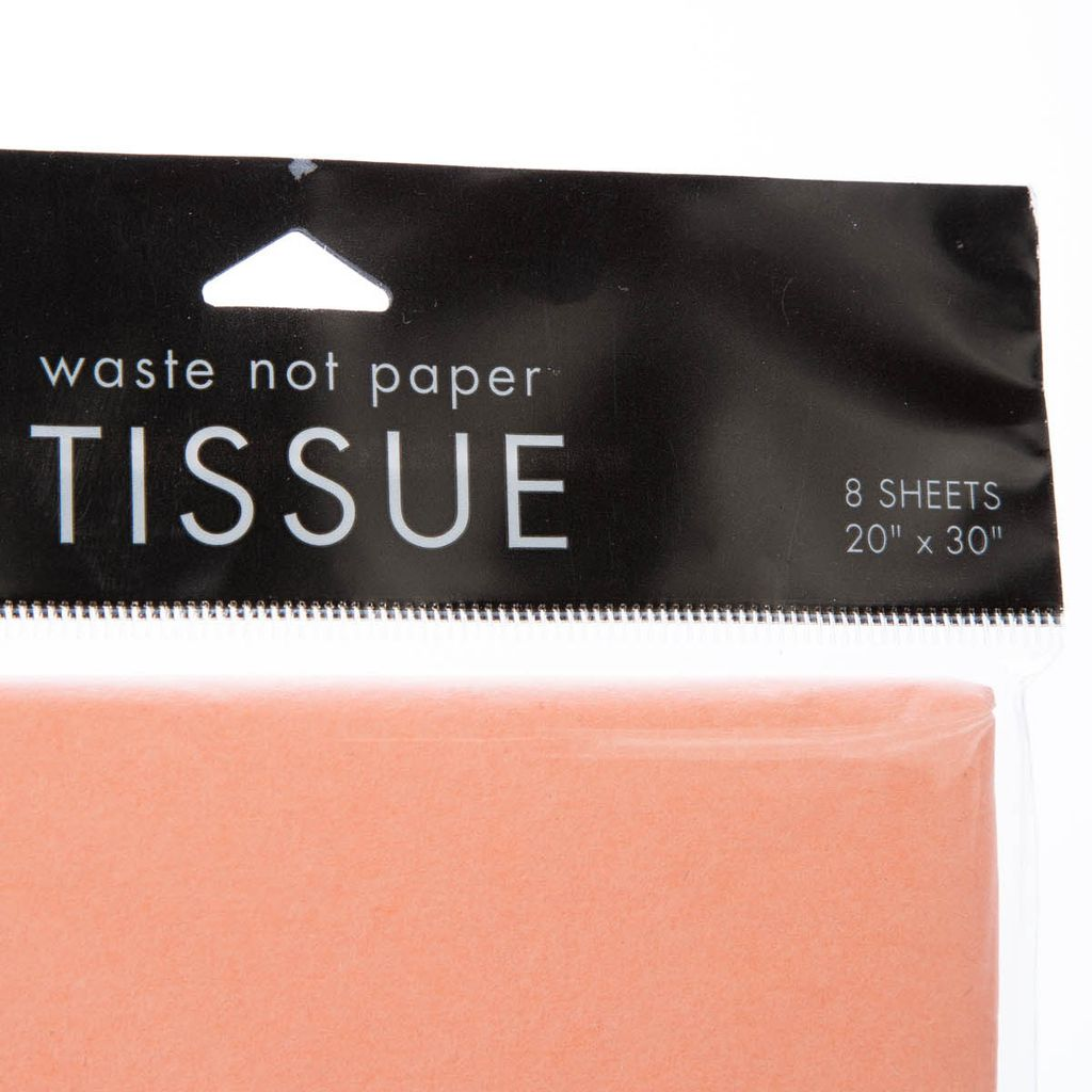 Waste Not Paper Coral Tissue Paper