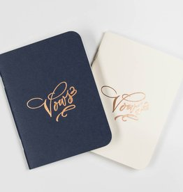 Antiquaria Cream and Navy Vows Notebook Set of 2
