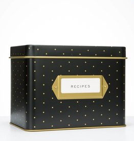 Rifle Paper Co. Polka Dot Tin Recipe Box