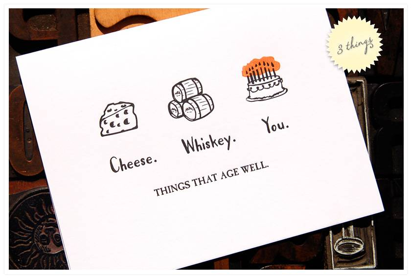 wild ink press Three Things Birthday Card