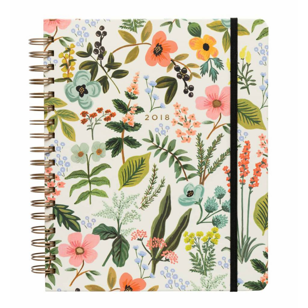Rifle Paper Co. Rifle Paper Co. 2018 Herb Garden 17-Month Spiral Agenda