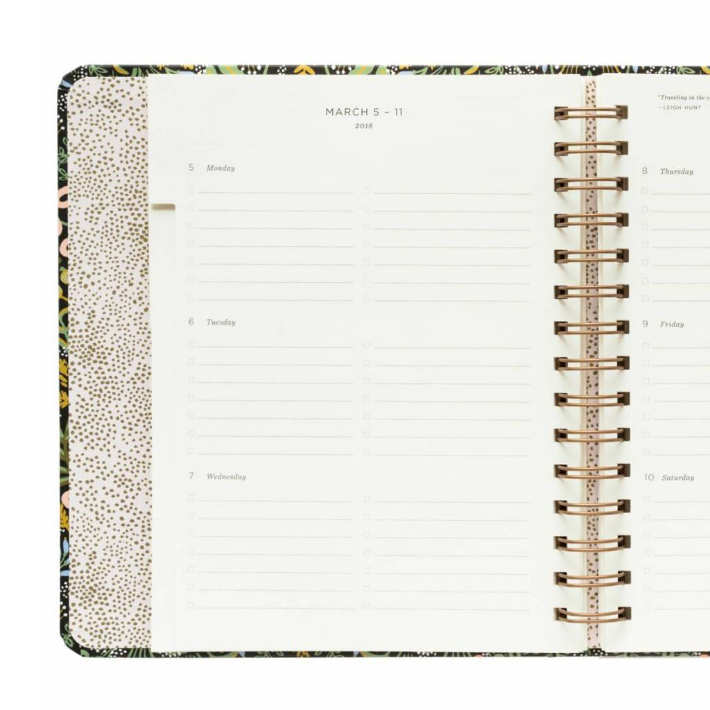 Rifle Paper Co. Rifle Paper Co. 2018 Tapestry 17-Month Covered Agenda