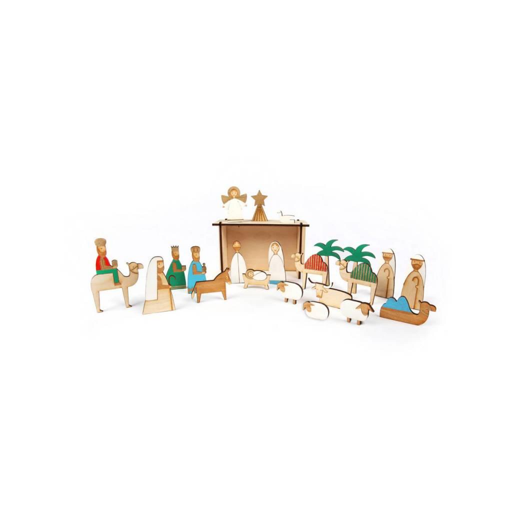 Meri Meri Wood Nativity Advent Calendar