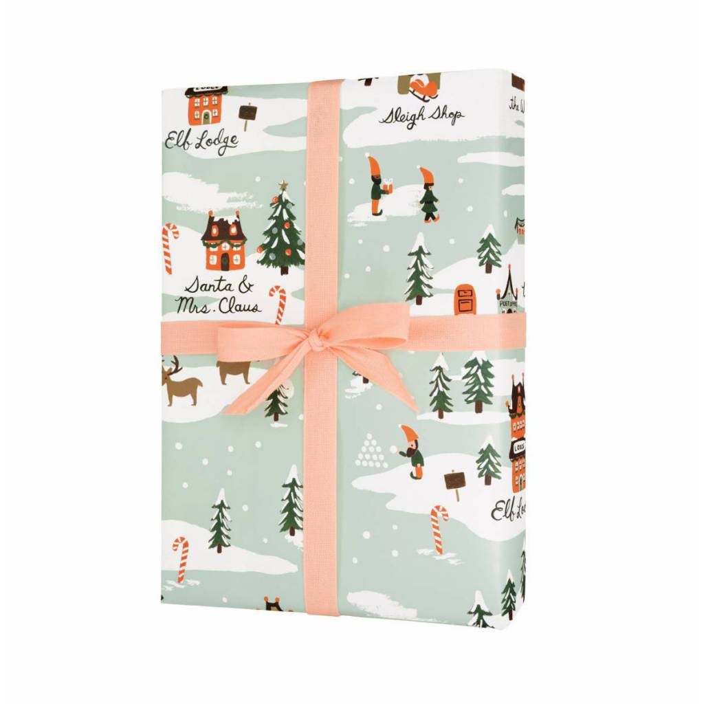 Rifle Paper Co. RP WP - North Pole Wrap Sheet - 19.5 Inch x 27 Inch