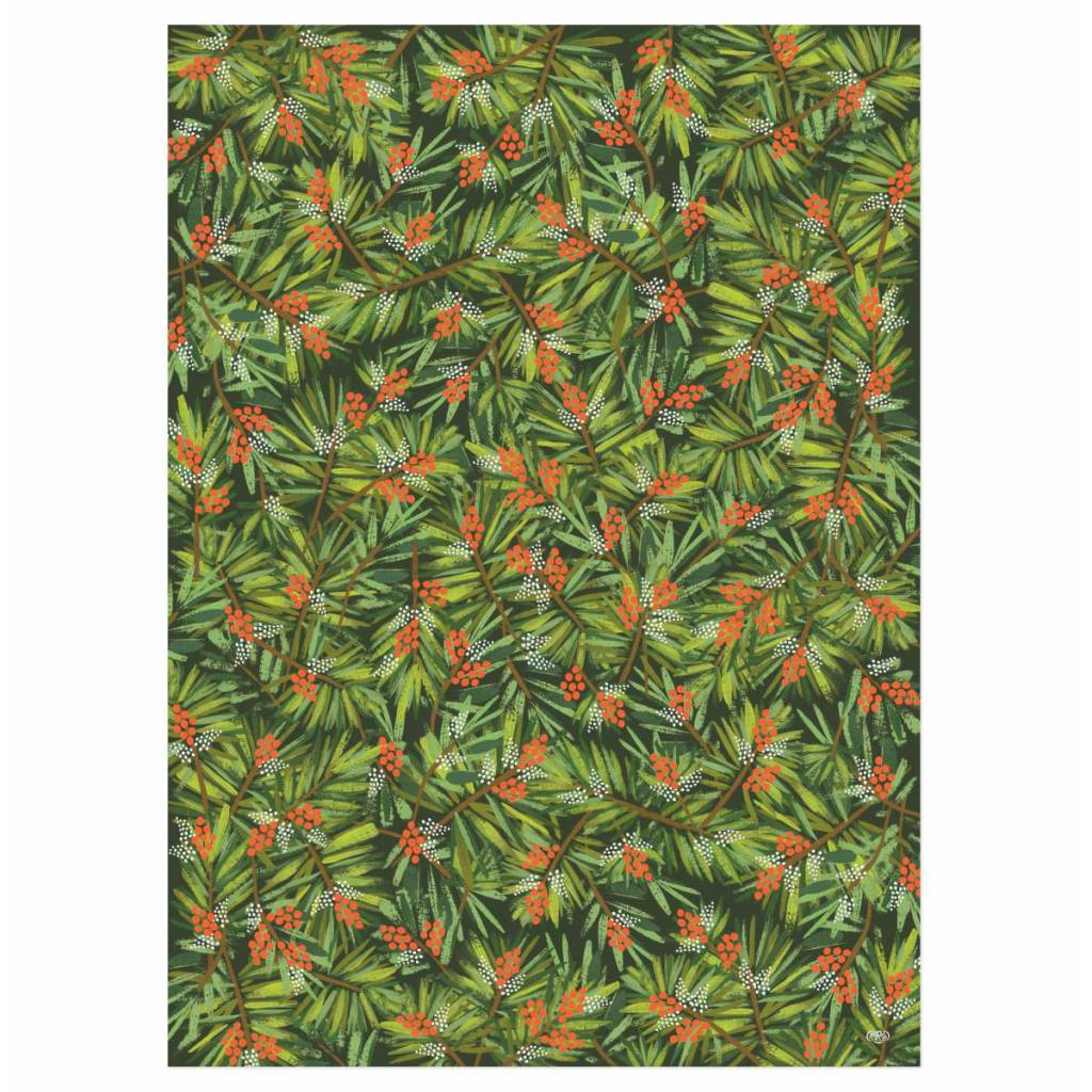 Rifle Paper Co. RP WP - Pine Wrap Sheet, 19.5 x 27