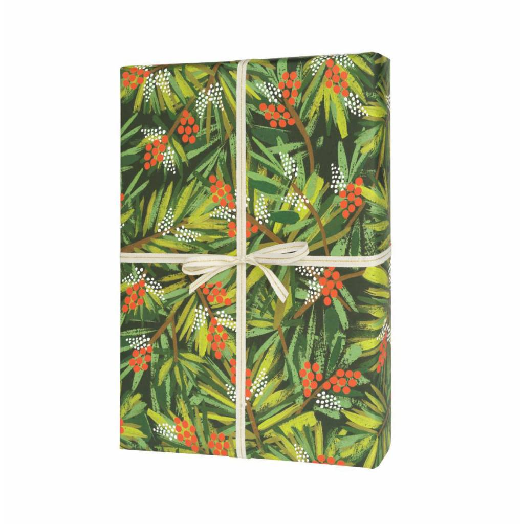 Rifle Paper Co. RPWP - Pine Wrap Roll (3 19.5x27 Inch sheets)