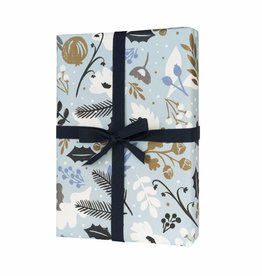 Rifle Paper Co. RP WP - Holiday Blue Sun Wrap Sheet, 19.5 x 27