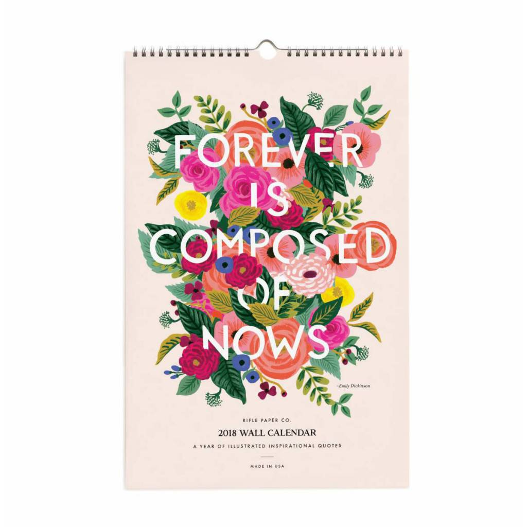 Rifle Paper Co. 2018 Floral Quote Wall Calendar