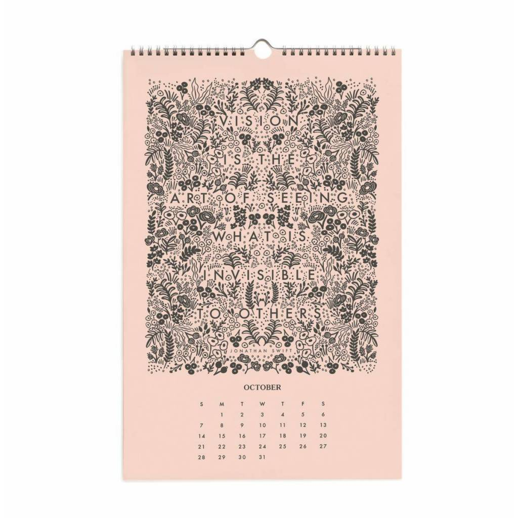 Rifle Paper Co. RPCAWA - 2018 Floral Quote Wall Calendar