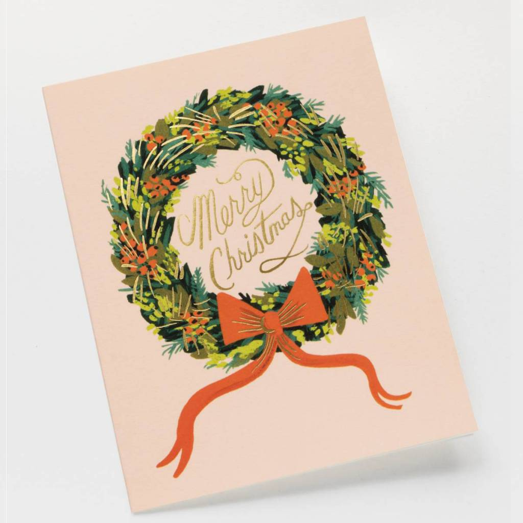 Rifle Paper Co. Christmas Wreath Single Card