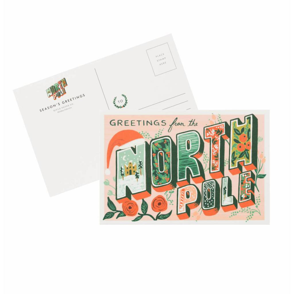 Rifle Paper Co. Greetings from the North Pole Postcards