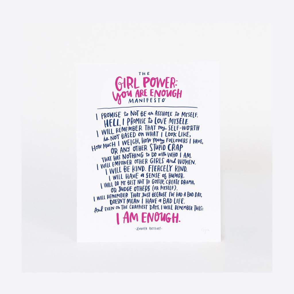 Emily McDowell Girl Power Print 8 x 10 Inch