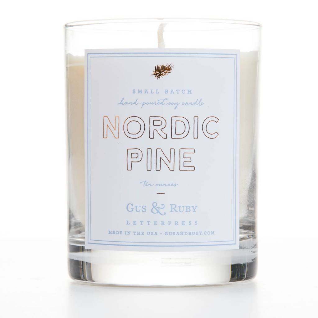Gus and Ruby Letterpress Gus & Ruby Nordic Pine Candle