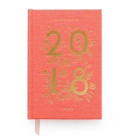 Rifle Paper Co. Rifle Paper 2018 Coral Hardcover Agenda, 12-Month