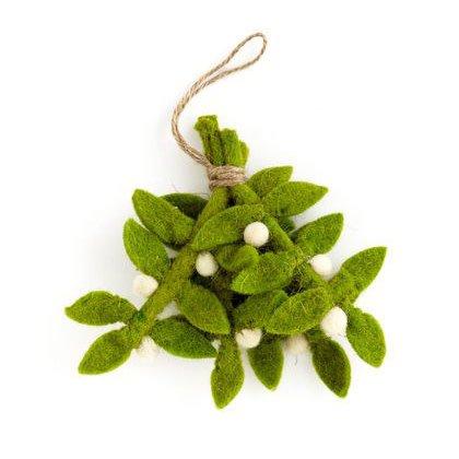 Cody Foster Felted Mistletoe Ornament