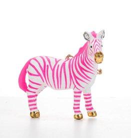 Cody Foster Neon Fantastical Zebra Ornament