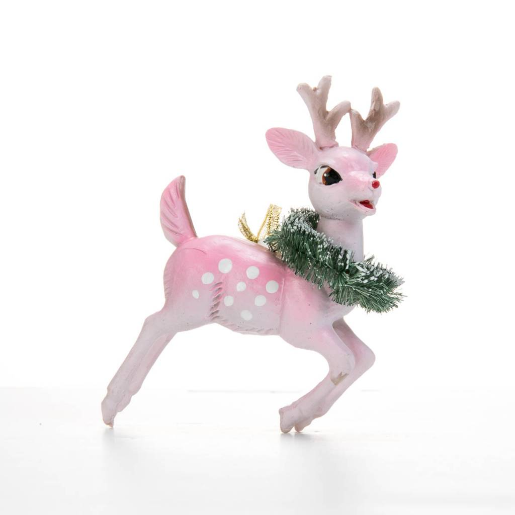 Cody Foster Leaping Vintage Deer Ornament
