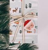 HInkleville Handmade Sleepy Santa Handmade Ceramic Ornament
