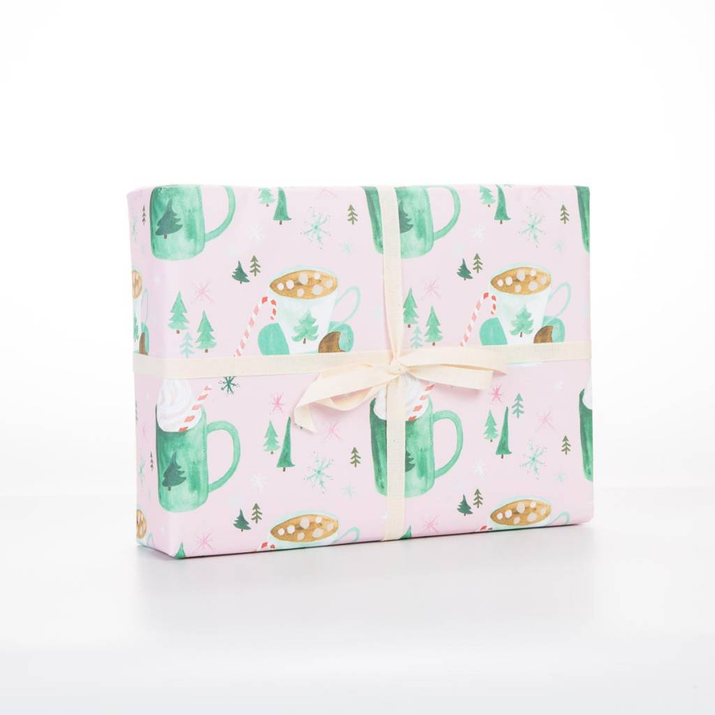 Revel and Co Cozy Drinks Wrapping Paper Sheet