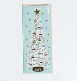 First Snow Mint Christmas Tree No.10 Greeting Card