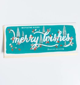 First Snow Merry Wishes Greeting Card