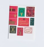 Season's Greetings Holiday Stamps Note Set 8