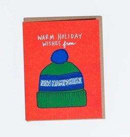 La Familia Green New Hampshire Winter Hat Greeting Card