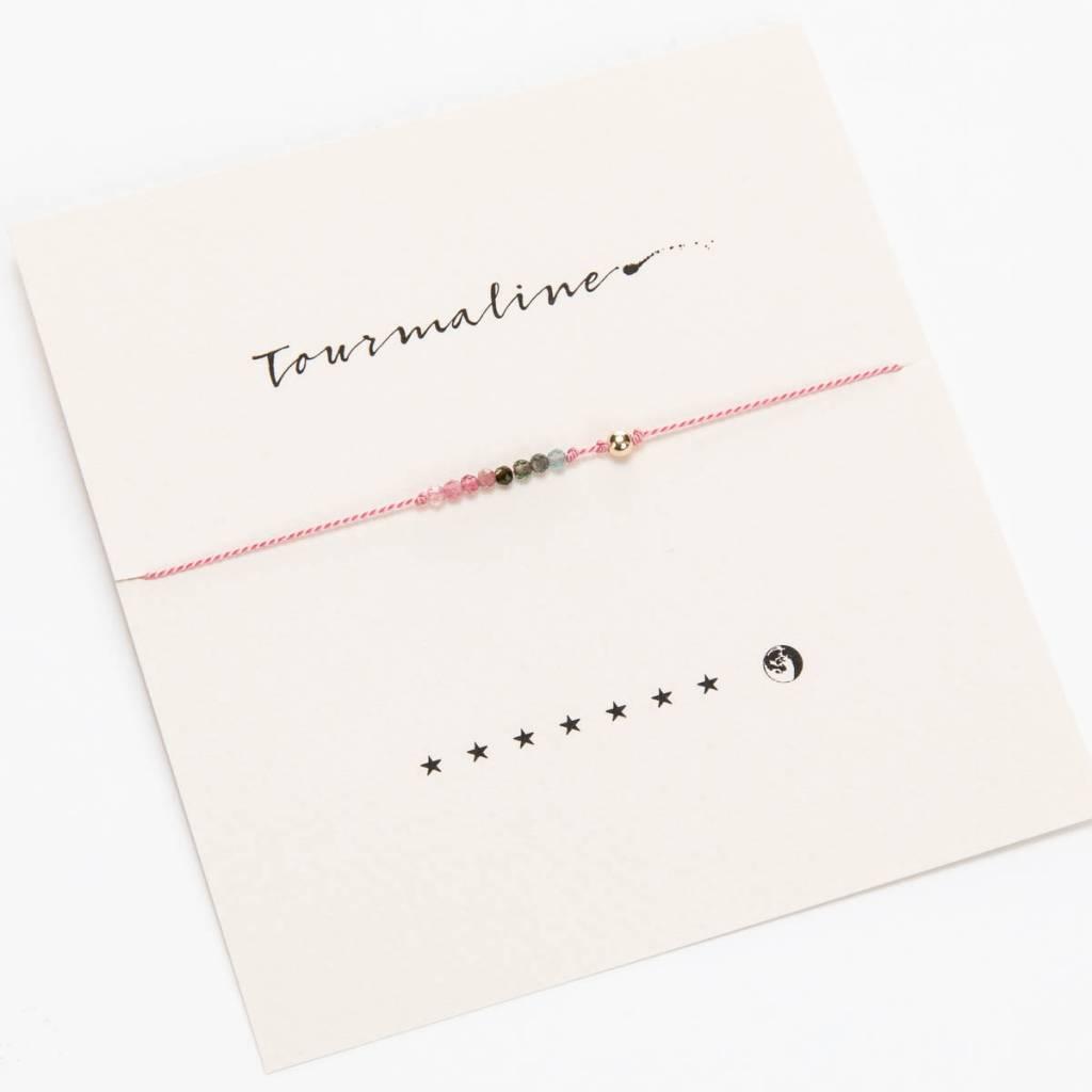 Mai Lin Jewelry Silk cord bracelet, Tourmaline