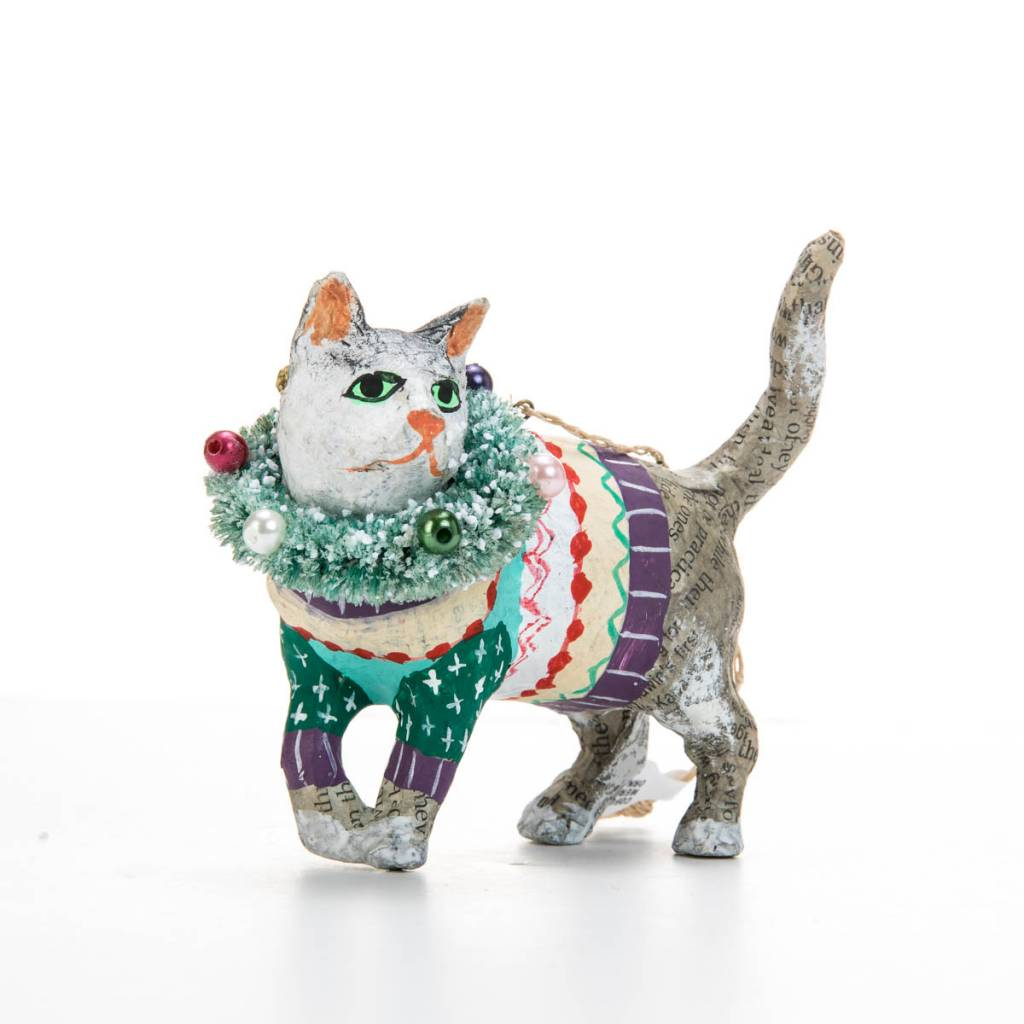 Cody Foster COFOR - MERRY MERRY CAT ORNAMENT