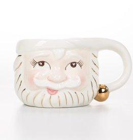 One Hundred 80 Degrees White Santa Mug