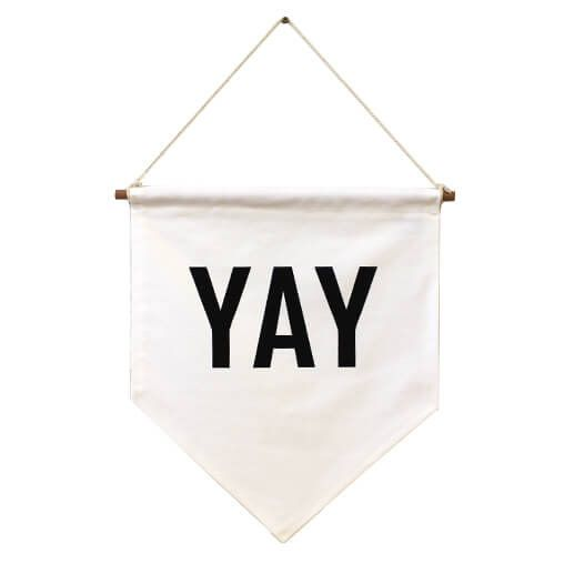 Zana YAY Flag Banner Wall Hanging