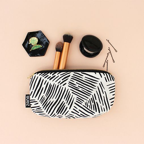Zana Lines Makeup Pouch