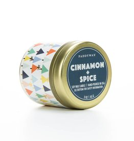 Paddywax Cinnamon + Spice candle tin