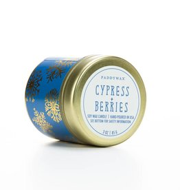 Paddywax Cypress + Berry candle tin