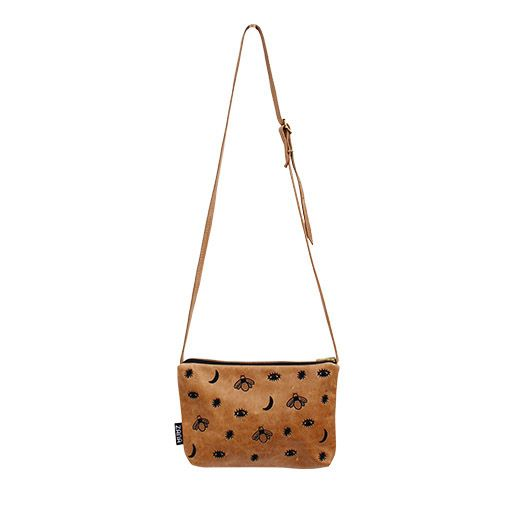 Zana Midnight Leather Crossbody Bag