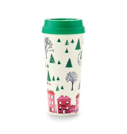 Kate Spade Holiday Village thermal mug
