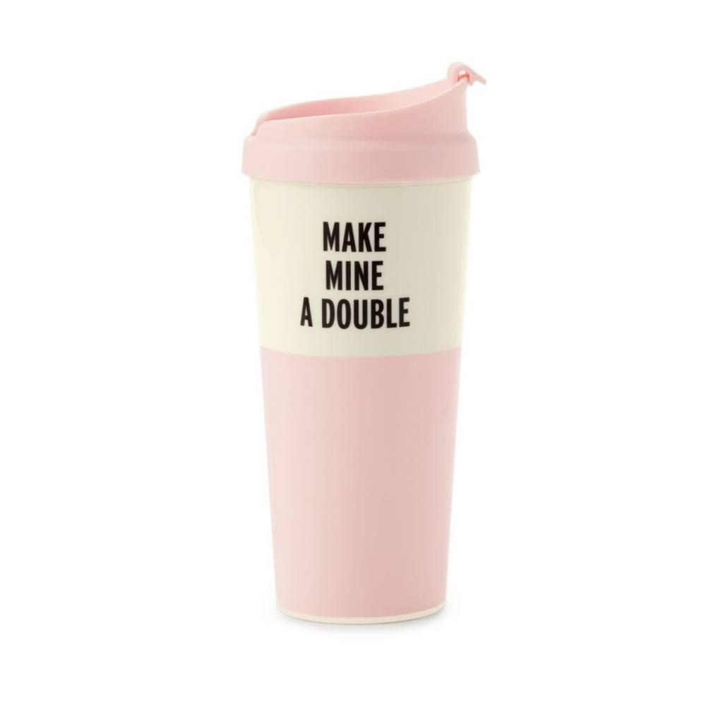 Kate Spade Make Mine A Double thermal mug