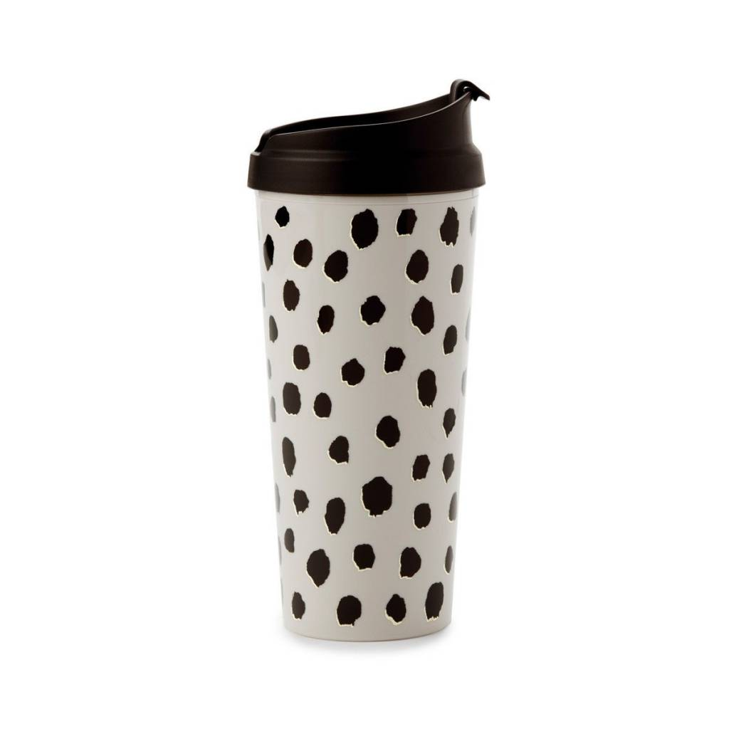 Kate Spade Flamingo Dot thermal mug