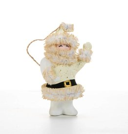 One Hundred 80 Degrees Gold Hollywood Santa Ornament