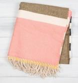 Twig TWI HG - SOHO - Pale Pink, Tan, Charcoal, + Yellow Lambswool Throw