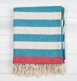 Twig TWI HG - Greenwich - Blue, Forest Green, Grey + Red Lambswool Throw