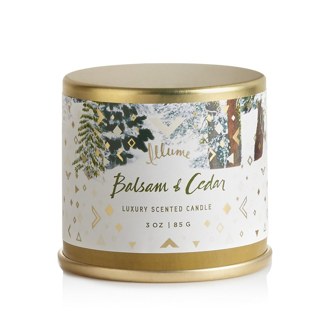 illume candles ILL CA - Balsam and Cedar Demi Tin Candle